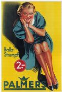 Vintage underwwear advertisement, Palmers. HALB-STRUMPF